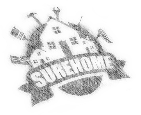 sure home logo sketch sized